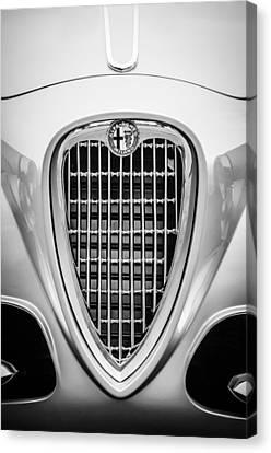 1955 Alfa Romeo 1900 Css Ghia Aigle Cabriolet Grille Emblem -0564bw Canvas Print by Jill Reger