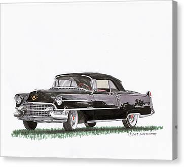 1955 Cadillac Series 62 Convertible Canvas Print by Jack Pumphrey