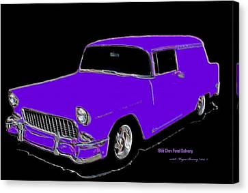 1955 Chev Panel Delivery P Canvas Print by Wayne Bonney
