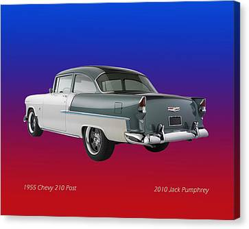 1955 Chevrolet 210 Canvas Print by Jack Pumphrey