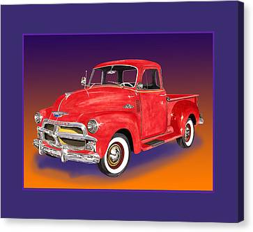 1955 Chevrolet 3100 Pick Up Truck Canvas Print by Jack Pumphrey