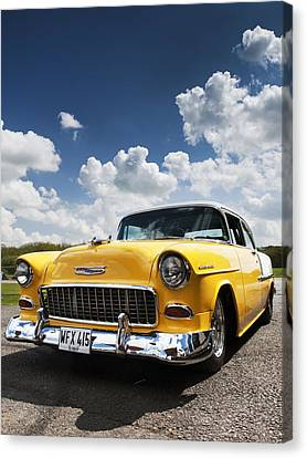 1955 Chevrolet Canvas Print by Tim Gainey
