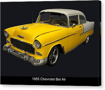 1955 Chevy Bel Air Harvest Gold Canvas Print by Chris Flees