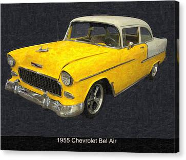 1955 Chevy Bel Air Mixed Media Canvas Print by Chris Flees