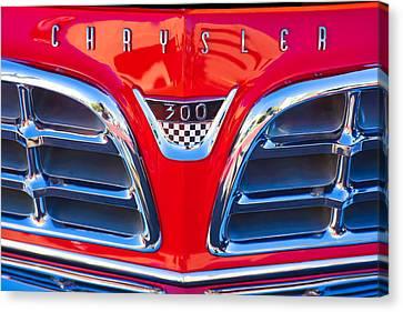 1955 Chrysler C-300 Grille Emblem Canvas Print by Jill Reger
