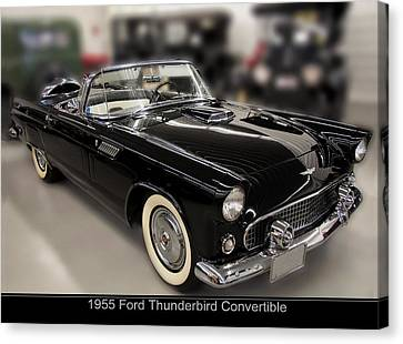 1955 Ford Thunderbird Convertible Canvas Print by Chris Flees