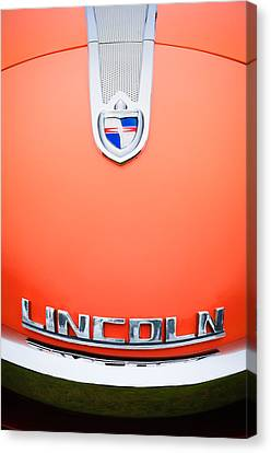 1955 Lincoln Indianapolis Boano Coupe Emblem Canvas Print by Jill Reger