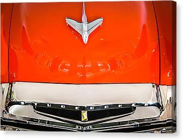 1955 Studebaker Champion Conestoga Custom Wagon Hood Ornament - Grille Emblem -0325c Canvas Print by Jill Reger