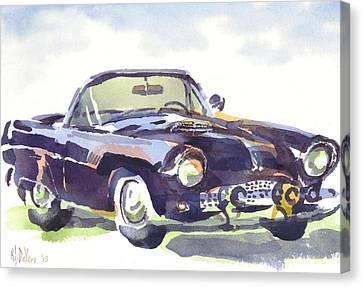 1955 Thunderbird Canvas Print by Kip DeVore