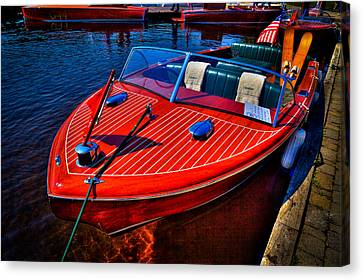1956 Chris-craft Capri Classic Runabout Canvas Print by David Patterson