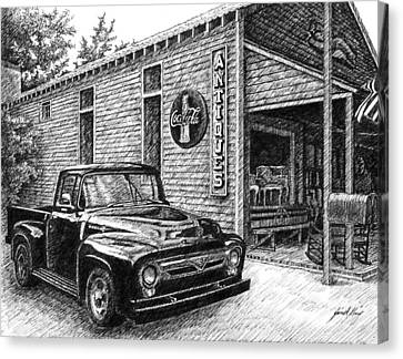 1956 Ford F-100 Truck Canvas Print by Janet King