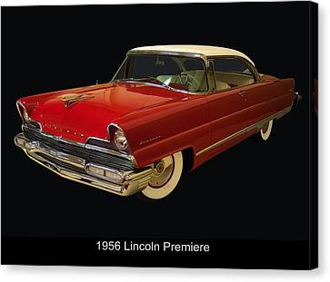 1956 Lincoln Premiere Canvas Print by Chris Flees