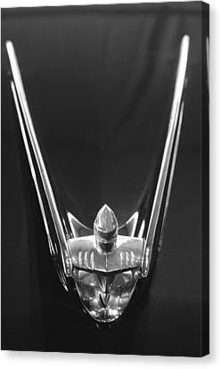 1956 Lincoln Premiere Convertible Hood Ornament 2 Canvas Print by Jill Reger