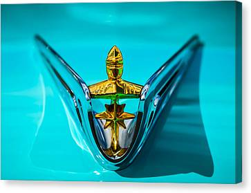 1956 Lincoln Premiere Hood Ornament -0815c Canvas Print by Jill Reger