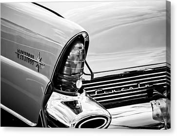 1956 Lincoln Premiere Taillight Emblem -0887bw Canvas Print by Jill Reger