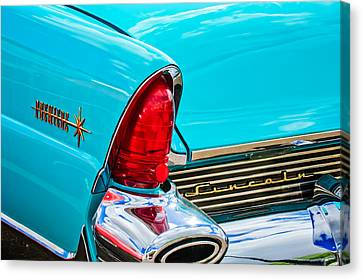 1956 Lincoln Premiere Taillight Emblem -0887c Canvas Print by Jill Reger