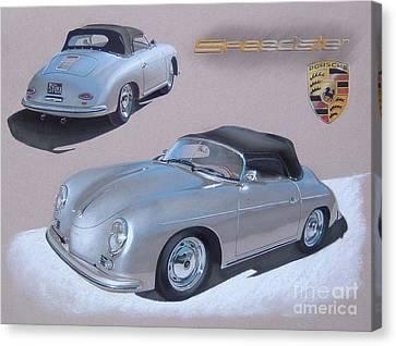 1956 Porsche 356-a Speedster Canvas Print by Paul Kuras