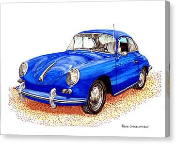 1956 Porsche 356 Canvas Print by Jack Pumphrey