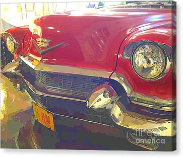 1956 Red Covertible Cadillac Canvas Print by Robert Wek