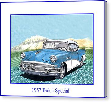 1957 Buick Riviera Special Hard Top Convertible Canvas Print by Jack Pumphrey
