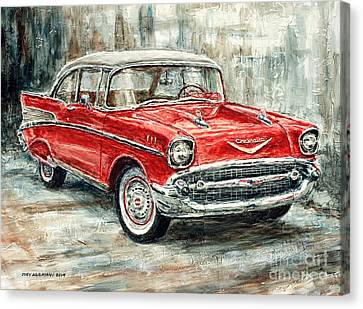 1957 Chevrolet Bel Air Sport Coupe Canvas Print by Joey Agbayani
