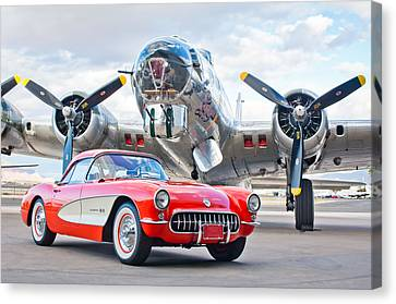 1957 Chevrolet Corvette Canvas Print by Jill Reger