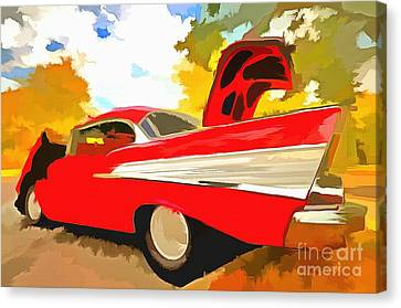 1957 Chevy Bel Air Canvas Print by L Wright
