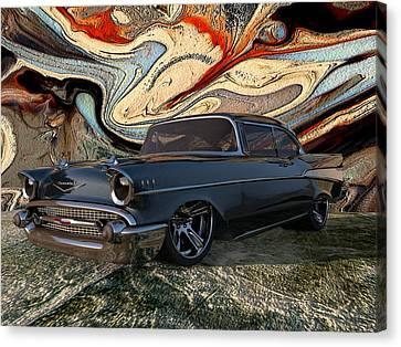 1957 Chevy Bel Air Canvas Print by Louis Ferreira