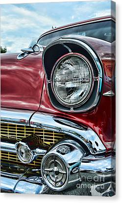 1957 Chevy - My Classic Car Canvas Print by Paul Ward