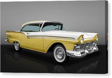 1957 Ford Fairlane 500 Canvas Print by Frank J Benz