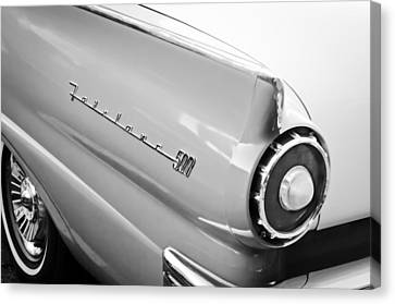 1957 Ford Fairlane 500 Taillight Emblem Canvas Print by Jill Reger
