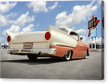 1957 Ford Fairlane Lowrider 2 Canvas Print by Mike McGlothlen