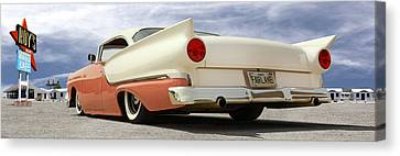 1957 Ford Fairlane Lowrider Canvas Print by Mike McGlothlen