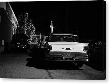 1957 Ford Noir Canvas Print by Laura Fasulo