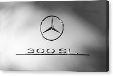 1957 Mercedes-benz 300 Sl Gullwing Emblem Canvas Print by Jill Reger