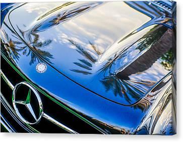 1957 Mercedes-benz 300sl Grille Emblem -0167c Canvas Print by Jill Reger