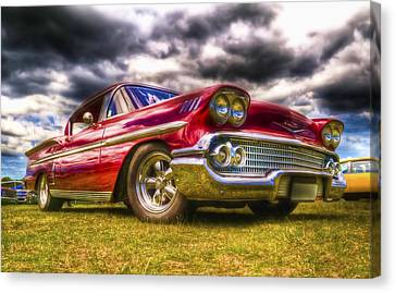 1958 Chevrolet Impala Canvas Print by Phil 'motography' Clark