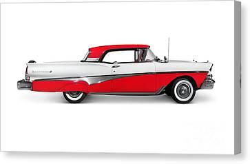 1958 Ford Fairlane 500 Skyliner Canvas Print by Oleksiy Maksymenko