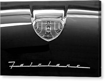 1958 Ford Fairlane 500 Victoria Hood Emblem Canvas Print by Jill Reger