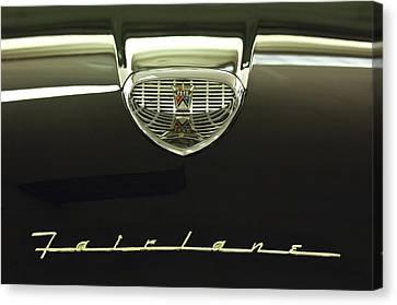 1958 Ford Fairlane 500 Victoria Hood Ornament Canvas Print by Jill Reger
