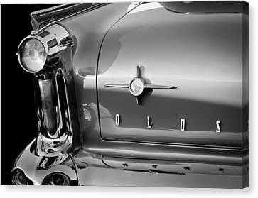 1958 Oldsmobile 98 Taillight Emblem Canvas Print by Jill Reger