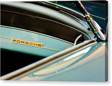 1958 Porsche 356 A Speedster Dash Emblem Canvas Print by Jill Reger