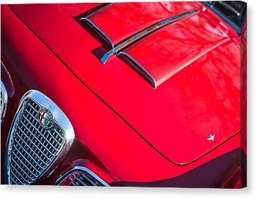 1959 Alfa Romeo 2000 Spider Grille Emblem Canvas Print by Jill Reger