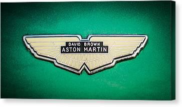 1959 Aston Martin Db4 Gt Hood Emblem -0127c Canvas Print by Jill Reger