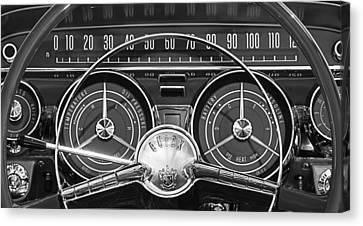 1959 Buick Lasabre Steering Wheel Canvas Print by Jill Reger