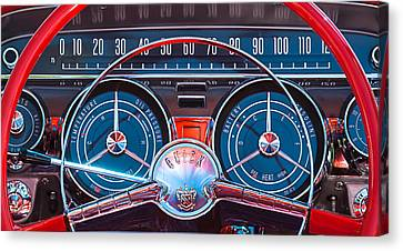1959 Buick Lesabre Steering Wheel Canvas Print by Jill Reger