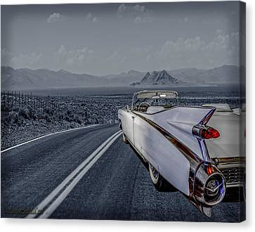 1959 Cadillac Eldorado Cool Night Canvas Print by LeeAnn McLaneGoetz McLaneGoetzStudioLLCcom
