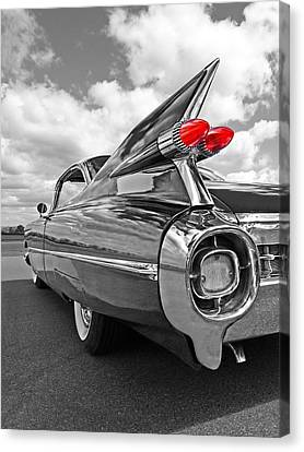 1959 Cadillac Tail Fins Canvas Print by Gill Billington