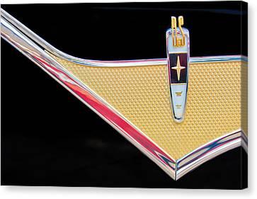 1959 Desoto Adventurer Emblem Canvas Print by Jill Reger