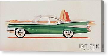 1959 Desoto  Classic Car Concept Design Concept Rendering Sketch Canvas Print by John Samsen